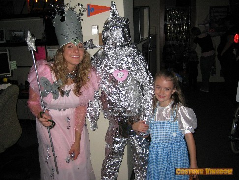 Glanda the Good Witch and Dorothy w Toto and the Tin Man