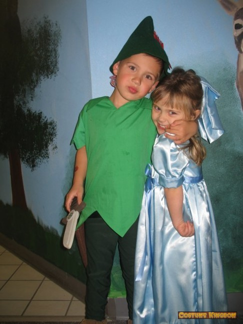 Homemade Peter Pan And Wendy Costume