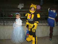 Gabe as Transformer Bumblebee