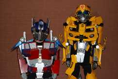 Bumblebee and Optimus Prime