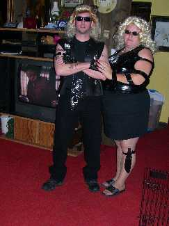 Dog and Beth the bounty hunter