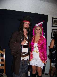 Captain Jack Sparrow and his Wench