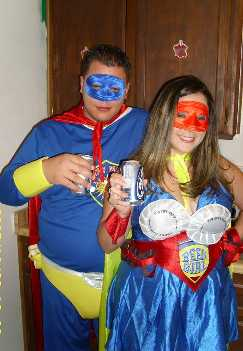 Beer Man Beer Girl Save Halloween