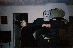 frankenstien monster and the bride at home