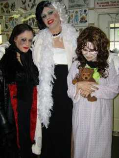 Regan from The Exorcist with Cruella dark Dorothy