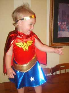 Hannah is WONDERWOMAN