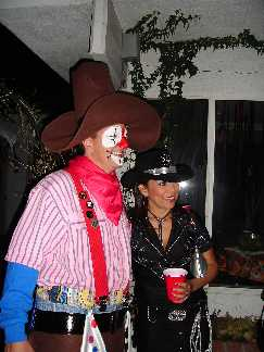 Rodeo Clown and the Cowgirl