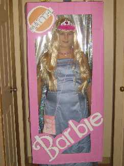 barbie in its package