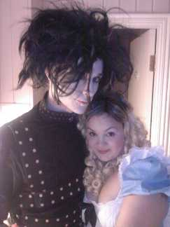 Edward Scissorhands and Alice in Wonderland