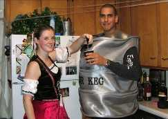 Beer Garden Girl and Keg