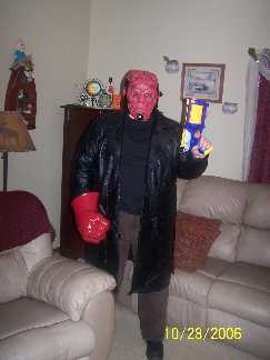 Tom as Hellboy