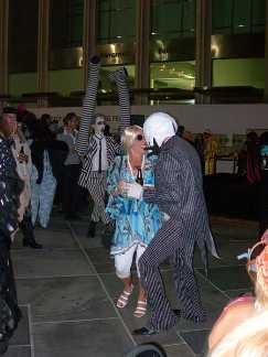 Jack Skellington Hippie and Bettlejuice getting down