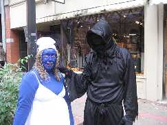 Smurfette and a wraith