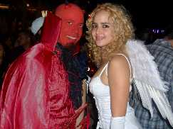 Angel and devil couple