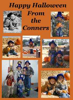 A family of scarecrows