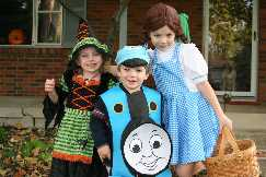 Dorothy and the Witch meet Thomas the Train