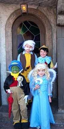 Pinocchio Jiminy Cricket Geppetto and Blue Fairy
