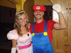 mario and his princess peach toadstool